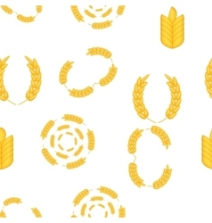 Wheat cereal pattern cartoon style vector