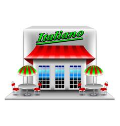 Italian restaurant isolated on white vector