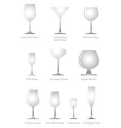 Alcoholic glass vector