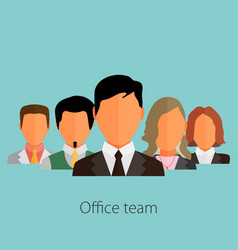 business people group color profile human vector image