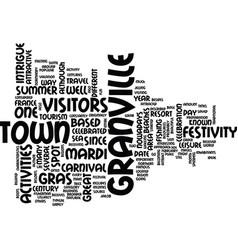 Granville a great summer resort text background vector
