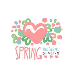 Spring love logo template original design vector