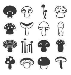 Mushroom cute icon vector