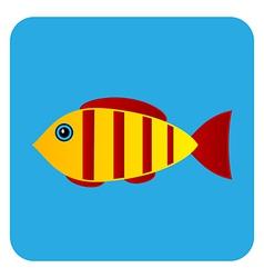Fish button vector