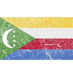 Flag of comoros with old texture vector