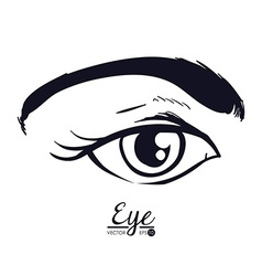 Eye woman vector