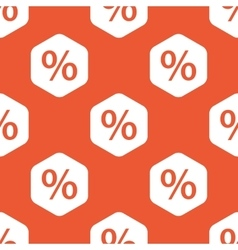 Orange hexagon percent pattern vector