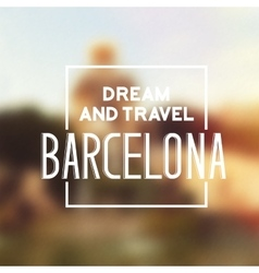 Barcelona travel print vector