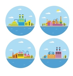 Landscape of buildings vector