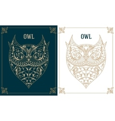 Vintage owl retro design graphic element vector