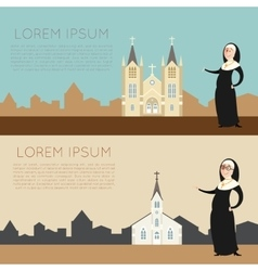 Catolic church banner2 vector image