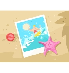 Photos surfer on the a wave crest vector
