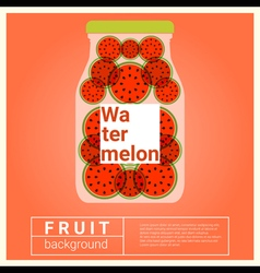 Infused water fruit recipe with watermelon vector