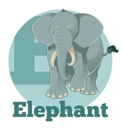 Abc cartoon elephant vector