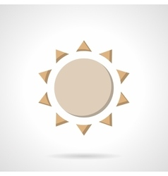 Beige flat color sun icon vector image vector image