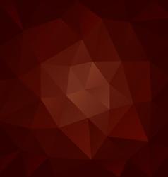 Brown chocolate polygonal triangular pattern vector