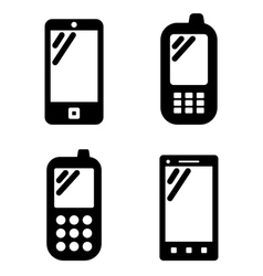 Cell phone signs vector image