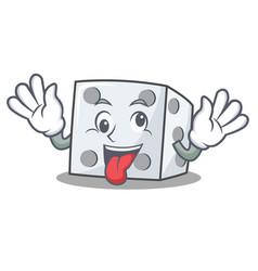 Crazy dice character cartoon style vector
