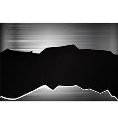 Dark chrome black and grey broken background vector