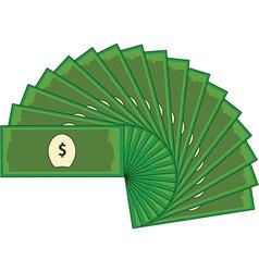 Dollar banknotes vector image