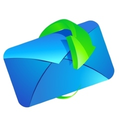 E-mail with arrow vector image