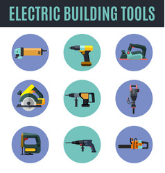 electric building tools vector image