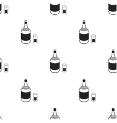 gin icon in black style isolated on white vector image