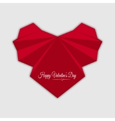 Happy valentines day Abstract red heart vector image vector image