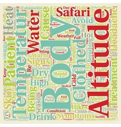 Health Issues Whilst On Safari text background vector image vector image