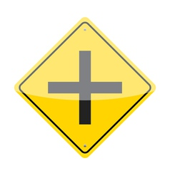 Intersection ahead sign vector