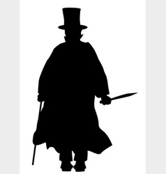 jack the ripper silhouette vector image vector image