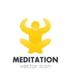 meditation icon logo element vector image