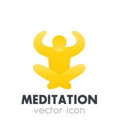 Meditation icon logo element vector