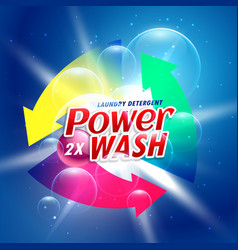 power wash detergent powder packaging concept vector image vector image