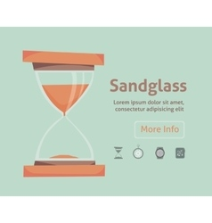 sandglass icon eps 10 set clock vector image vector image