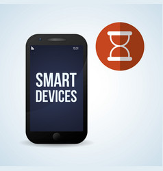 smart device design gadget icon isolated vector image vector image