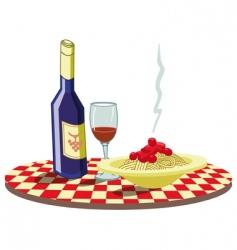 spaghetti vector image vector image