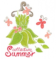 summer fashion collection vector image vector image