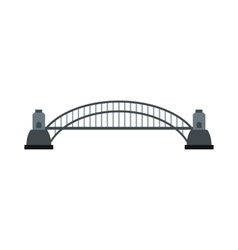 Sydney harbour bridge icon flat style vector