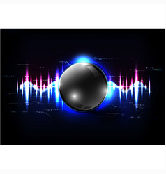 technological global sound modern sphere abstract vector image vector image