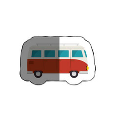 tourism van vehicle icon vector image