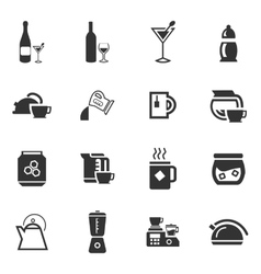 Utensils for the preparation of beverages vector image