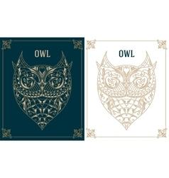 Vintage owl Retro design graphic element vector image