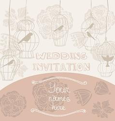 WeddingInvitationCages vector image