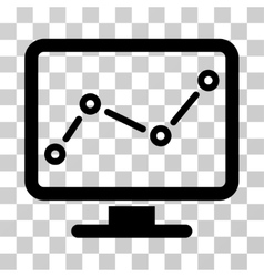Trend monitoring icon vector