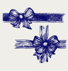 Ribbon with bow vector