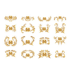vintage background with golden ornament vector image