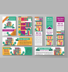 house estate and the bet agency flyers vector image