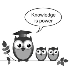 Owl teacher power vector