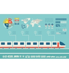 Transportation infographic template vector